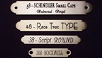 "Large Ornamental Nameplate 5/8"" x 4 1/4"""