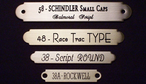 Solid Brass Nameplates for bridles, saddles, dog collars, picture ...