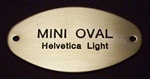 Mini Oval Name Plate